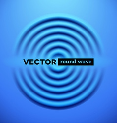 Abstract background with blue ripple waves vector