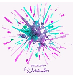 Hand drawn watercolor background firework stain vector