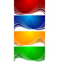 vector colorful banners vector image