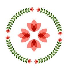 Design elements - round floral frame flower icon vector