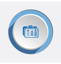Liquid in hand luggage cosmetic bag icon baggage vector