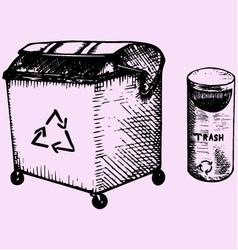 Trash bins vector