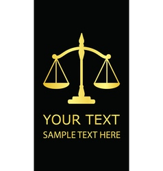 justice scales vector image