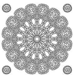 Decor floral gem mandala vector