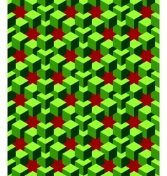 abstract green cubes vector image vector image