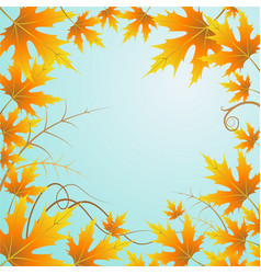 background and leaves vector image vector image