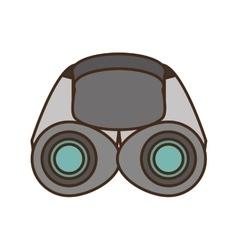Binoculars explorer glasses spyglass vector