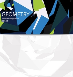 Business geometry background vector image vector image