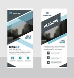 Business Roll Up Banner flat design template Blue vector image