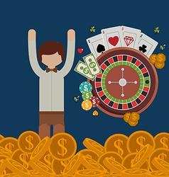 casino games design vector image vector image