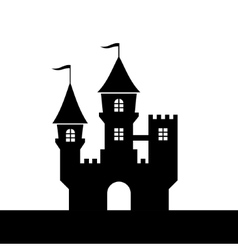 Castle Silhouette Icon on White Background vector image vector image