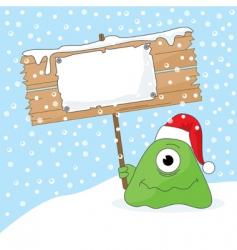 Christmas monster vector image