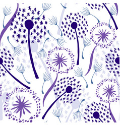 dandelions on white vector image