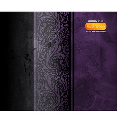 Dark floral background vector