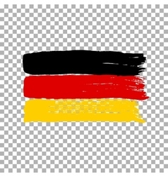 Flag of germany on an empty background vector