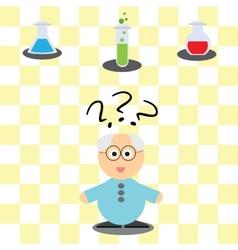 Game for children - helping scientist vector