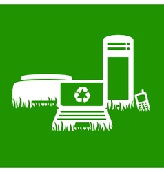 Green electronics recycling vector