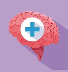 human brain healthy organ vector image