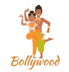 Indian bollywood couple dancing vector