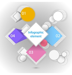 Infographic elements circles and squares vector