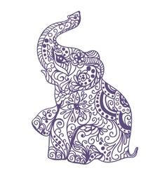 Invitation vintage card with elephant vector