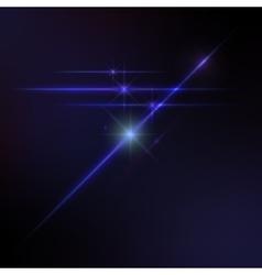 Lens flares star lights glow vector
