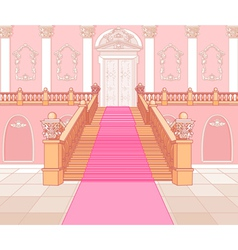 Luxury staircase in palace vector
