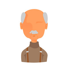 Man portrait face icon web avatar flat style vector