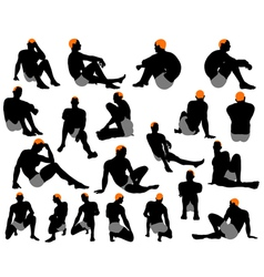 Mens silhouette vector image
