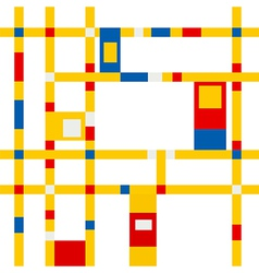 Mondrian grid inspiration vector