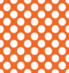 Orange polka dot seamless pattern vector image