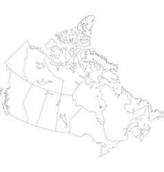 Outline canada map vector