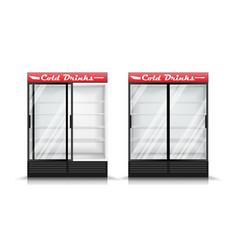 Refrigerator realistic modern vertical vector