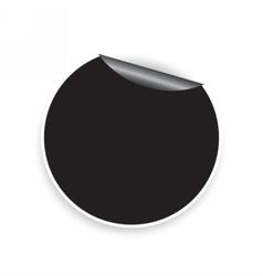 Round sticker vector