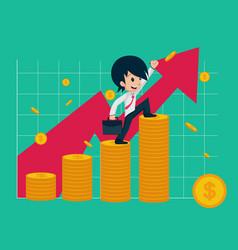 salary man 01 financial vector image