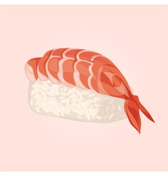 Sashimi with shrimp japanese food vector