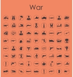 Set of war simple icons vector image vector image