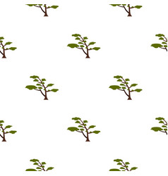 Tree with crown pattern flat vector