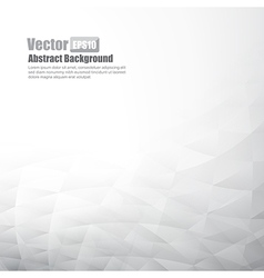 Grey abstract background with basic geometry vector image