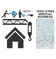 Home Construction Icon with 1000 Medical Business vector image
