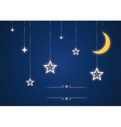 Star and moon toys vector