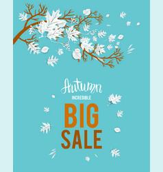 Autumn big sale image vector
