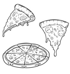 pizza isolated on white background design vector image