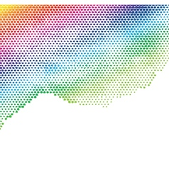 colorful halftone background vector image
