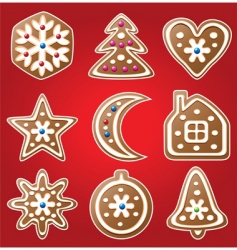 Gingerbread cookies vector