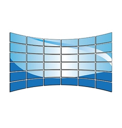 Blue tv monitors vector