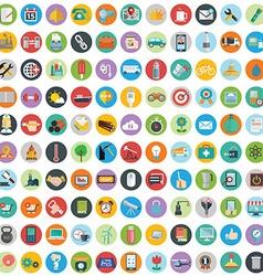 Flat icons design modern big set of various vector