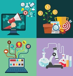 Collection of flat and colorful business marketing vector