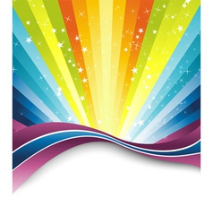 Rainbow banner template vector