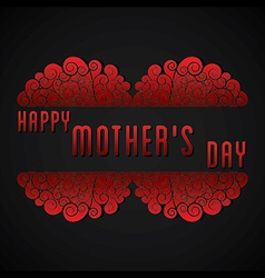 Creative happy mothers day greeting card design vector